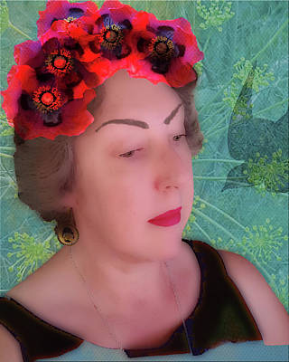 Digital Art - Self-portrait Inspired By Frida Kahlo by Amy Jo Garner