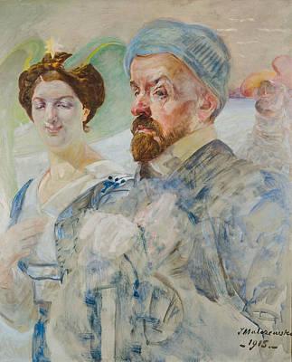 Painting - Self-portrait by Jacek Malczewski