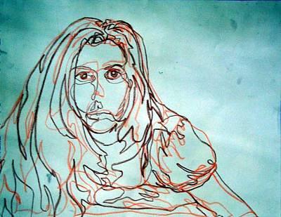 Drawing - Self-portrait by Kaley LaRose