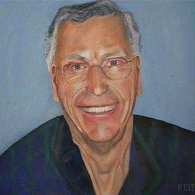 Ontario Portrait Artist Painting - Self Portrait by Keith Bagg