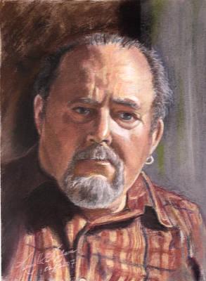 Ear Rings Painting - Self Portrait by Kenneth Kelsoe