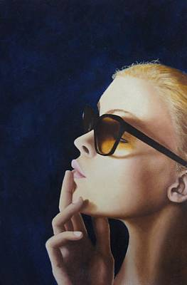 Novak Painting - Self Portrait by Kristina Novak