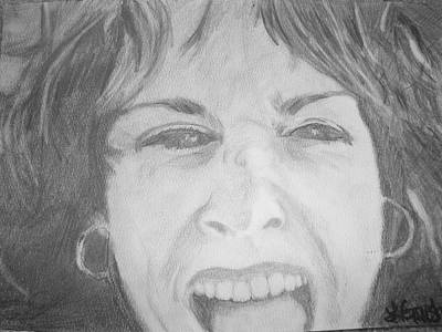 Drawing - Self Portrait by Laura  Grisham