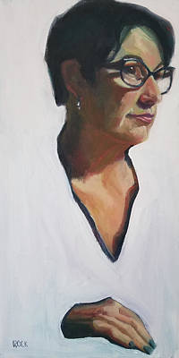 Wall Art - Painting - Self Portrait by Leslie Rock