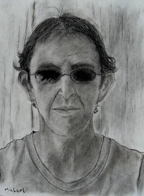 Charcoal Drawing - Self-portrait by Michael Brennan