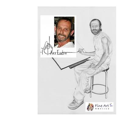 Self-portrait Drawing - Self Portrait by Murphy Elliott