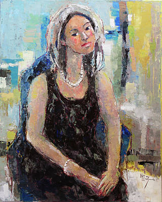 Painting - Self Portrait Of Becky Kim by Becky Kim