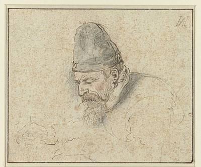 Painting - Self Portrait Of Henry Avercamp, Hendrick Avercamp, 1592-1629 by Artistic Panda