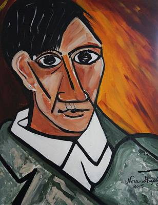 Self Portrait Of Picasso Art Print