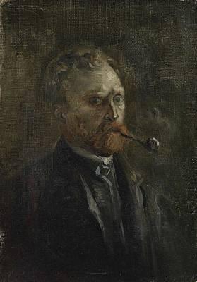 Painting - Self Portrait Paris March  June 1886 Vincent Van Gogh 1853  1890 by Artistic Panda