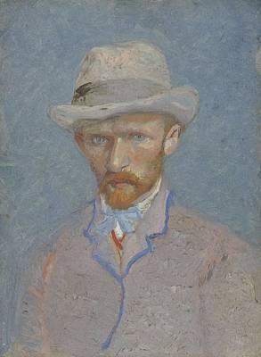 Painting - Self-portrait Paris  Summer 1887 Vincent Van Gogh 1853  1890 by Artistic Panda