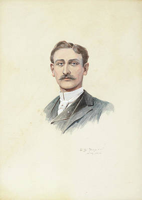 Edgar S. Paxson Painting - Self Portrait by Paxson