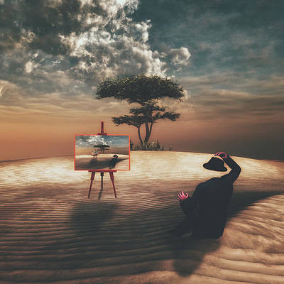 Surreal Digital Art Mixed Media - Self Portrait by Pixabay