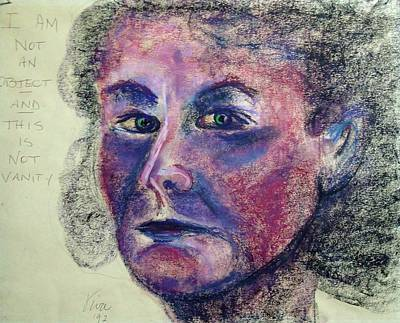Drawing - Self Portrait - Read  Me by VIVA Anderson