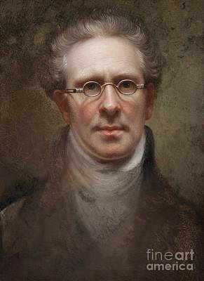 Glass Painting - Self Portrait by Rembrandt Peale