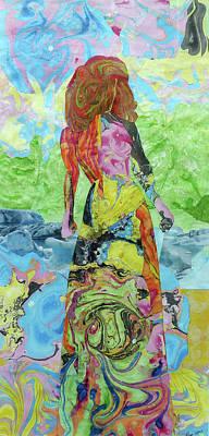Self-portrait Mixed Media - Self-portrait by Roxana Rojas-Luzon