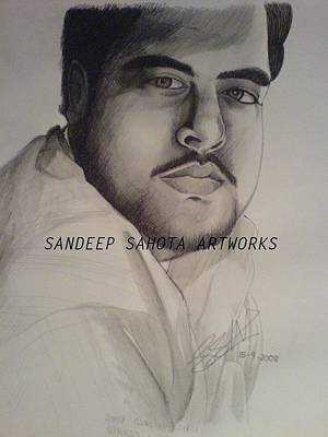 Muslims Of The World Drawing - Self Portrait Sandeep K Sahota by Sandeep Kumar Sahota