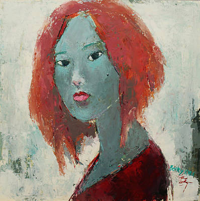 Painting - Self Portrait 1502 by Becky Kim