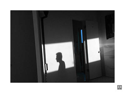Photograph - Self-portrait Shadow 3 by Stan  Magnan