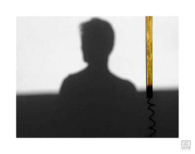 Photograph - Self Portrait Shadow 6 by Stan  Magnan