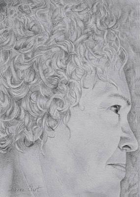 Drawing - Self Portrait by Sharon Ebert