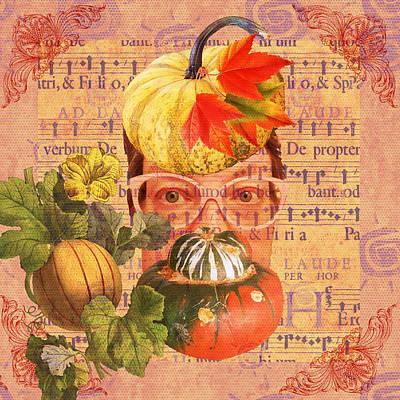Anne Geddes Large Format Polaroids - Self Portrait Symphony of Autumn by Amy Jo Garner