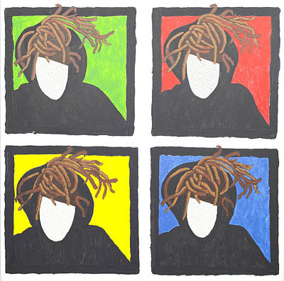 Self-portrait Mixed Media - Self-portrait/ The Four Loves by Jacqueline S Hill