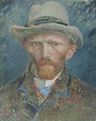 Self View Painting - Self-portrait, Vincent Van Gogh, 1887 by Vincent van Gogh