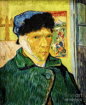 Painting - Self Portrait With A Bandaged Ear by Vincent Van Gogh