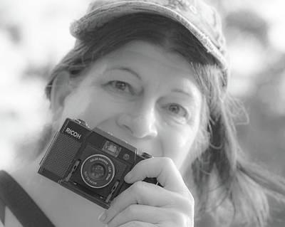 Photograph - Self Portrait With A Ricoh by Carolina Liechtenstein