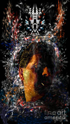 Digital Art - Self Portrait With Aura by Reed Novotny