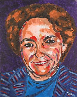 Painting - Self-portrait With Blue Jacket by Valerie Ornstein