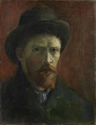 Painting - Self-portrait With Felt Hat Paris, December 1886 - January 1887 Vincent Van Gogh 1853  1890 by Artistic Panda