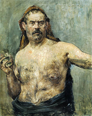 Self-portrait Painting - Self-portrait With Glass  by Lovis Corinth