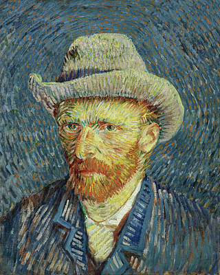 Painting - Self Portrait With Grey Felt Hat Van Gogh 1887 by Vincent Van Gogh