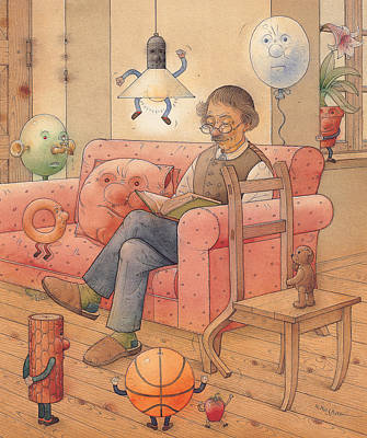 Painting - Self-portrait With My Things by Kestutis Kasparavicius