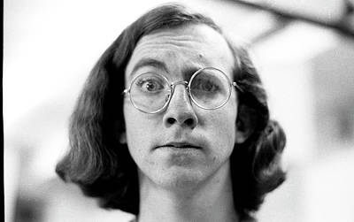 Photograph - Self-portrait, With Raised Eyebrow, 1972 by Jeremy Butler
