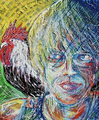 Self Portrait With Sammy Art Print by Duncan James
