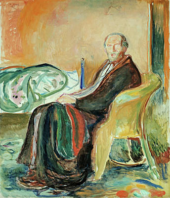Seat Painting - Self-portrait With The Spanish Flu by Edvard Munch