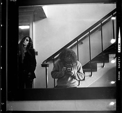 Photograph - Self-portrait, With Woman, In Mirror, Full Frame, 1972 by Jeremy Butler