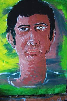 Self Painting - Self Portrait-without Looking by Harminder Paul