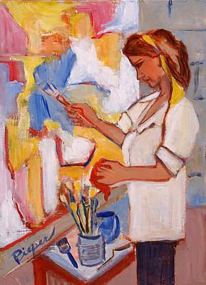 Painting - Self Portrait Zemaitis Jamack Pieper by Elzbieta Zemaitis