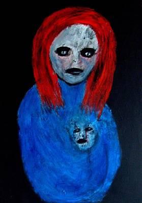 Painting - Self Protector by Katerina Apostolakou