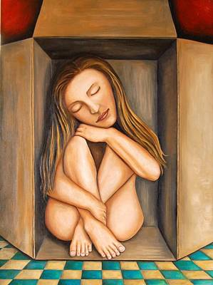 Boxes Painting - Self Storage by Leah Saulnier The Painting Maniac