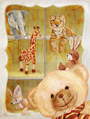 Selfie Bear Art Print