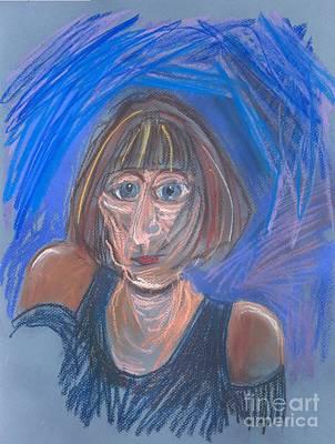 Pastel - Selfie by Carolyn Weltman