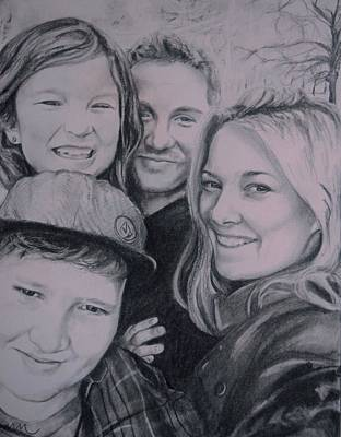 Drawing - Selfie by Emily Maynard