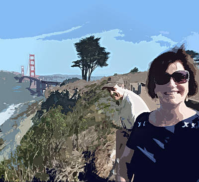 Digital Art - Selfie In San Francisco by Mary Capriole