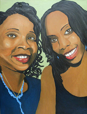 Painting - Selfie Sistas by Angelo Thomas
