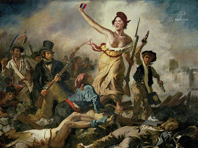 Stupidity Digital Art - Selfie, Stupidity Leading The People by Andrea Gatti